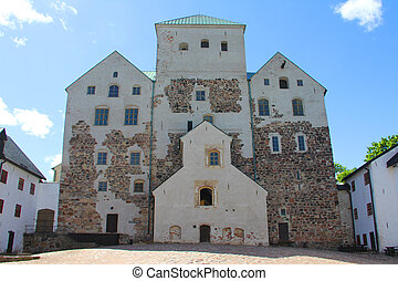 Castle of Turku, Finland - Old medieval castle of Turku,...