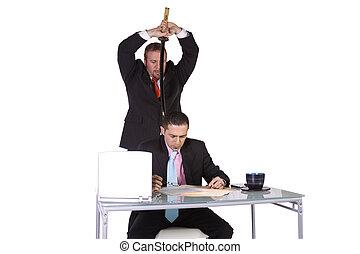 Businessmen Backstabbing Concept