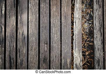 木製である, 古い, 床