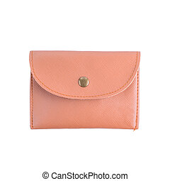 wallet with on a white background