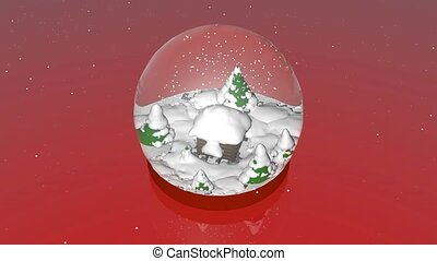 Snow ball - Incredibly beautiful snow globe with a house...