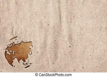 aged asia map-vintage artwork