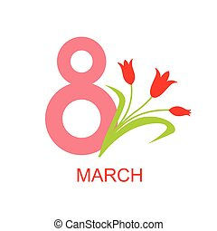 March 8 women day icon