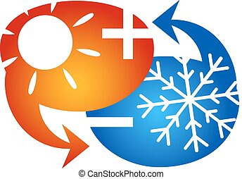 Air conditioning symbol vector business