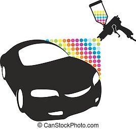 Car paint - Atomizer for painting car