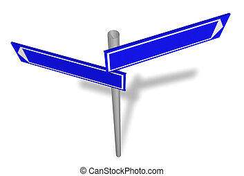 Abstract blank signpost