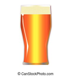 Pint Lager Glass - A traditional tall one pint lager glass