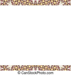 White Frame with Geometric Design Borders - White background...