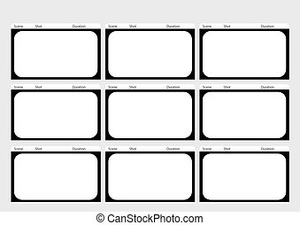 HDTV classical style 9 frame storyboard template -...