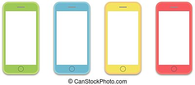 phone 4 colors os layout template - colorful styles of cell...