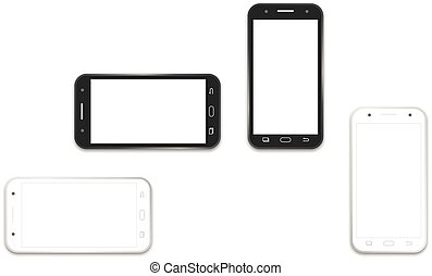 phone black and white layout template - Professional of cell...