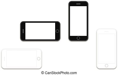 phone black and white os layout template - Professional of...
