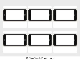 phone os black layout of presentation template -...