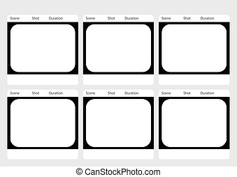Traditional television 6 frame storyboard template -...