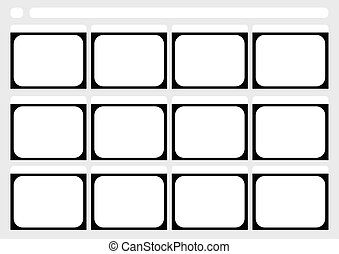 Traditional television 12 frame storyboard template -...