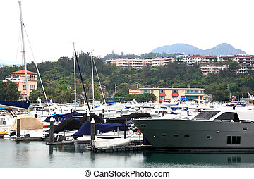 Some yachts in port