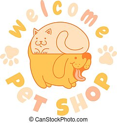 logo with cat and dog