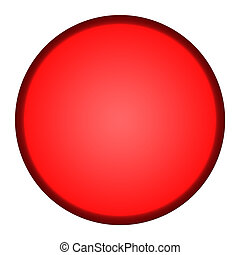 Red button - Glossy red button isolated on white background.