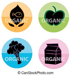 Organic Food Label Icons - An image of a organic food label...