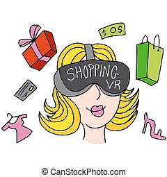 Virtual Reality Shopping Girl - An image of a virtual...