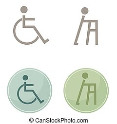 Men Disability Icons - An image of men disability icons.