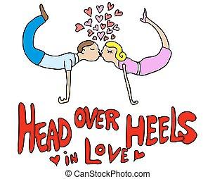 Head Over Heels Couple in Love