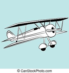 elica, aereo, disegno,