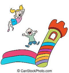 Bounce House Kids - An image of children playing on a bounce...