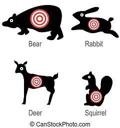 Hunted Animal Targets