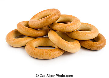 Bagels isolated on a white