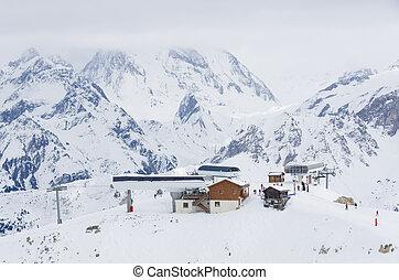 Trois vallees, Haute savoie, France - Vizelle ski station in...