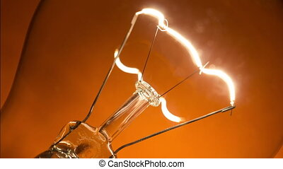 Light bulb flickering - Blinking light bulb on the yellow...