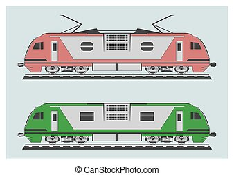 Locomotive set Vector illustration EPS 10, opacity