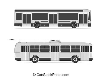 Public transportation set. Vector illustration. EPS 10,...
