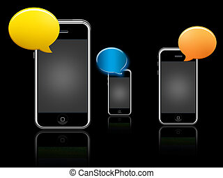 chating - iphone, people, person, phone, ring, sms, talk,...