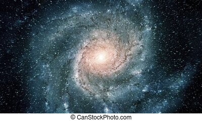 Flight Into Spiral Galaxy - Flying into a beautiful spiral...