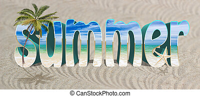 Background with word and quot;Summer and quot; - Background...