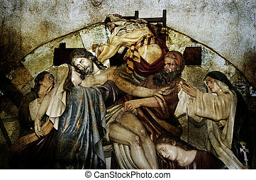 Jesus Christ - image of the Descent from the Cross