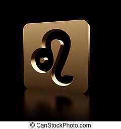 signos,  Leo, Símbolo, ícone