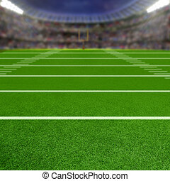 Football Stadium With Copy Space - American football stadium...