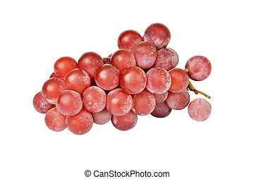 Ripe Red grape - Bunch of red grape, isolated on a white...