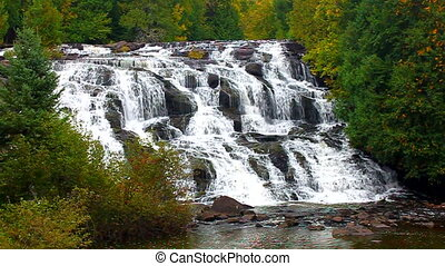 Bond Falls Michigan Upper Peninsula - Bond Falls Scenic Area...
