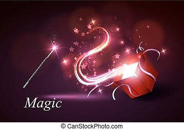 colorful magic box - Vector illustration colorful magic box...