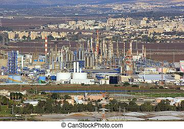 factories in Haifa Bay, Israel