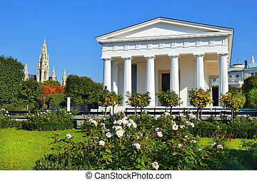 Temple of Theseus in Vienna Volksgarten, Austria - temple of...