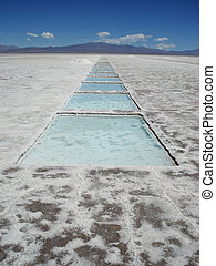 Salt extraction in Salinas Grandes Argentina - Salt...