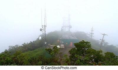 Cerro Punta Peak Puerto Rico - Foggy rainforest landscape...