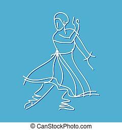 Sketch of dancing ballerina