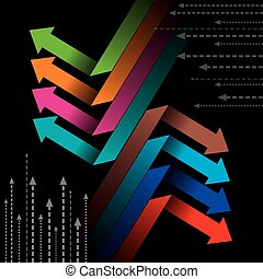 Global business arrow Vector illust