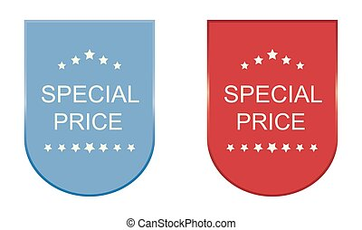 Set of special price stickers, elements